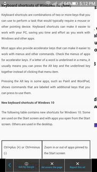 Windows 10 Shortcurt Key poster