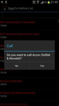 Egypt's Hotline List apk screenshot