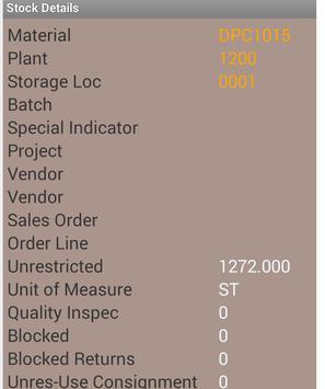 SAP Plant Stock(MMBE) App apk screenshot