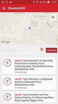 Checkin365 apk screenshot