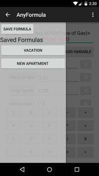 AnyFormula Calculator apk screenshot