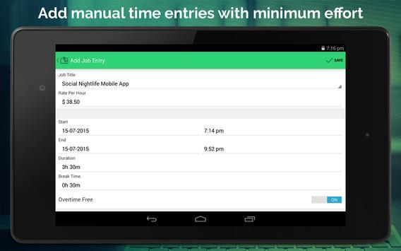 Work Hours Tracking & Billing apk screenshot