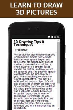 Learn to Draw 3D Pictures apk screenshot