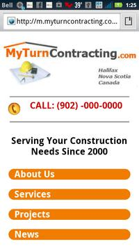 My Turn Contracting Halifax NS poster