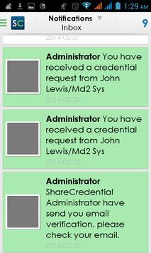ShareCredentials apk screenshot