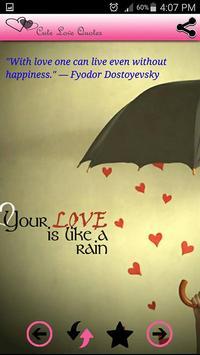 Cute Love Quotes and sayings apk screenshot