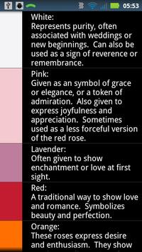 Rose Color Reference poster