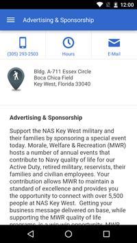 NavyMWR Key West apk screenshot