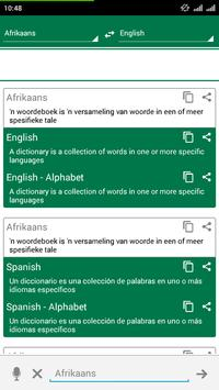 Afrikaans Dictionary Translate poster