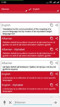 Albanian Dictionary Translator apk screenshot