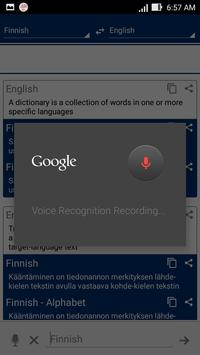 Finnish Dictionary Translator apk screenshot