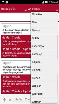 Haitian Dictionary Translator apk screenshot