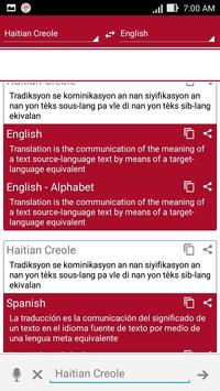 Haitian Dictionary Translator poster