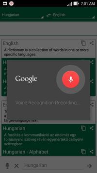Hungarian Dictionary apk screenshot