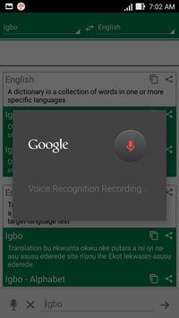 Igbo Dictionary Translator apk screenshot