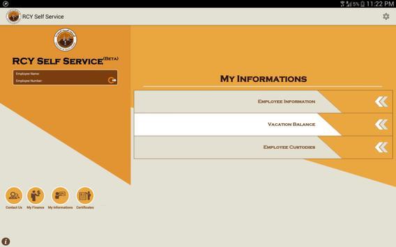 RCY Self Service apk screenshot