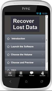 Recover Lost Data Instructions apk screenshot