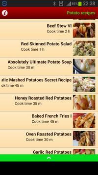 Potato Recipes apk screenshot