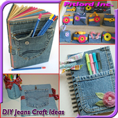 Recycled Jeans Craft Ideas icon