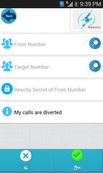 Reachy - [Call Divert/Forward] apk screenshot