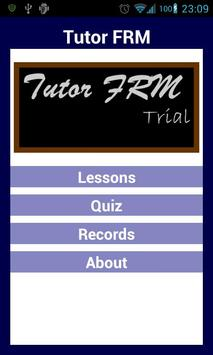 Tutor FRM Trial poster