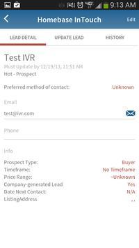 Homebase InTouch - Real Estate apk screenshot