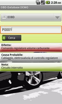 OBD-Database Italiano DEMO poster