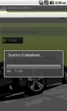OBD-Database Italiano DEMO apk screenshot