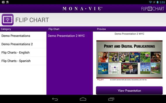 MonaVie FlipChart apk screenshot