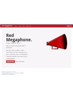 Red Megaphone poster