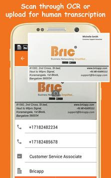 Bric - Business Card Scanner poster