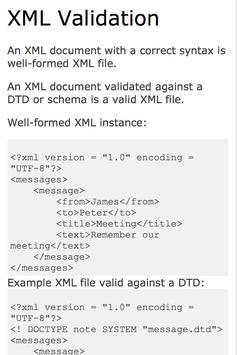 XML tutorial apk screenshot