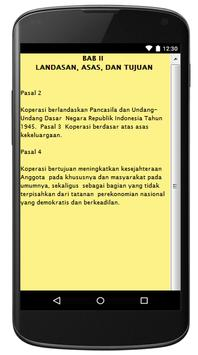 UU PERKOPERASIAN NO. 17/ 2012 apk screenshot