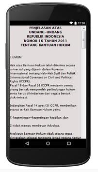 UU BANTUAN HUKUM NO.6 TH 2011 apk screenshot