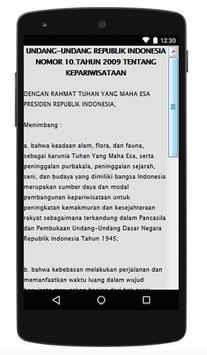 UU KEPARIWISATAAN apk screenshot