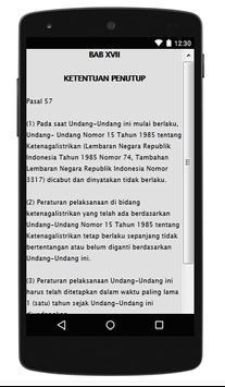 UU KETENAGALISTRIKAN apk screenshot
