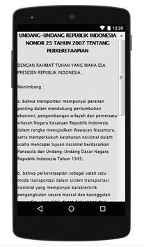 UU PERKERETAAPIAN apk screenshot