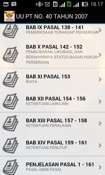 UU PT NO. 40 TAHUN 2007 apk screenshot