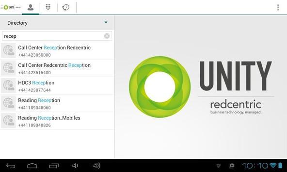 Unity Tablet apk screenshot