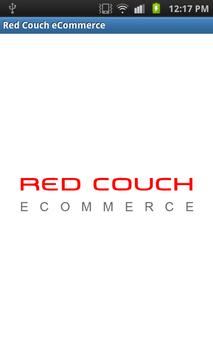 Red Couch eCommerce poster