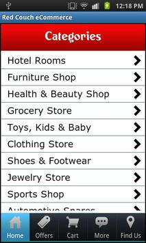 Red Couch eCommerce apk screenshot