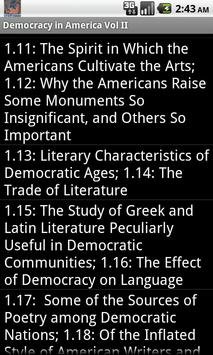 Democracy in America Vol II apk screenshot