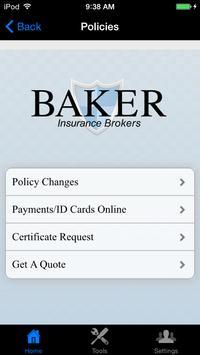 Baker Insurance Brokers apk screenshot