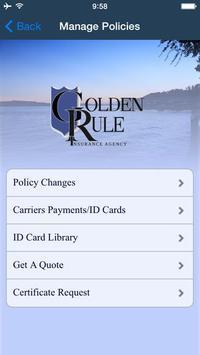Golden Rule Insurance apk screenshot