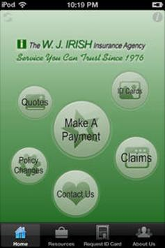 WJ Irish Insurance apk screenshot