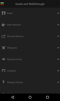 Guide for Shadow of Mordor apk screenshot