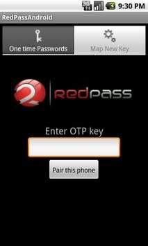 RedPass OTP apk screenshot
