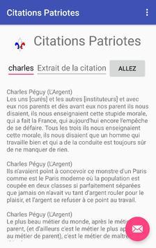 Citations Patriotes apk screenshot