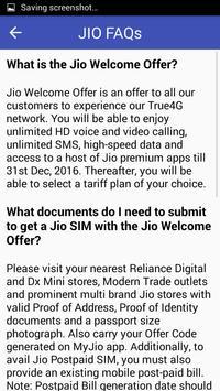 Free Jio SIM & Plan Details apk screenshot