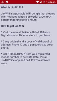Free Jioo SIM And Plan Details apk screenshot